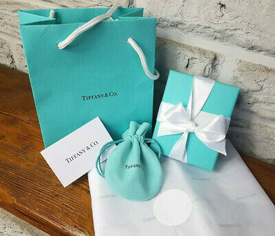 £37.99 • Buy Tiffany & Co. Presentation Box, Pouch, Bag, Paper, Care Card And Ribbon