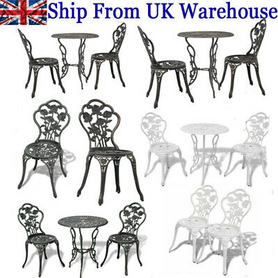 £215.53 • Buy Patio Set Bistro Table And Chairs Garden Furniture Outdoor Design Dining Chairs