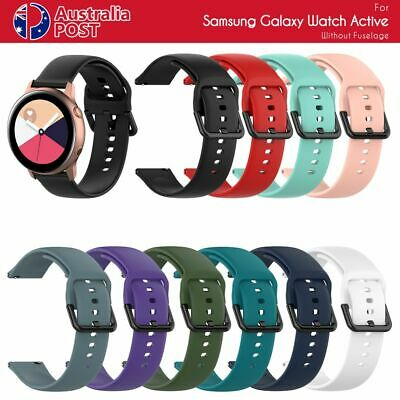 AU6.99 • Buy For Samsung Watch Active Garmin Replacement Soft Silicone Sport Wrist Band Strap