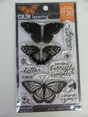 £6.95 • Buy *NEW* Hero Art Clear Stamps 'COLOR LAYERING - MONARCH BUTTERFLY'