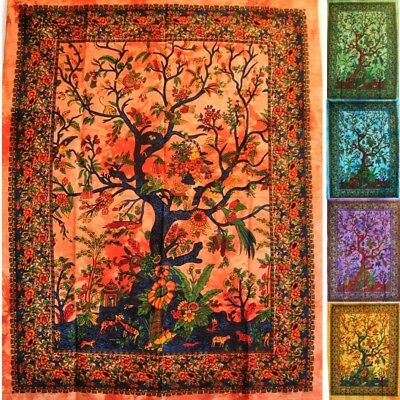 Wall Hanging Tree Of Life 80 X 110 CM Mural Tapestry • 12.03£