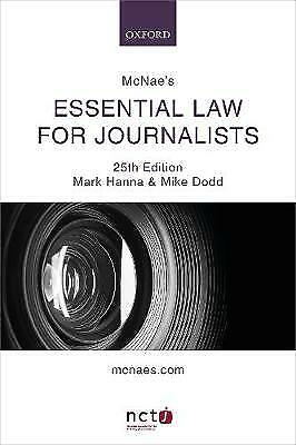 £25.60 • Buy McNae's Essential Law For Journalists, Hanna, Mark,  Paperback