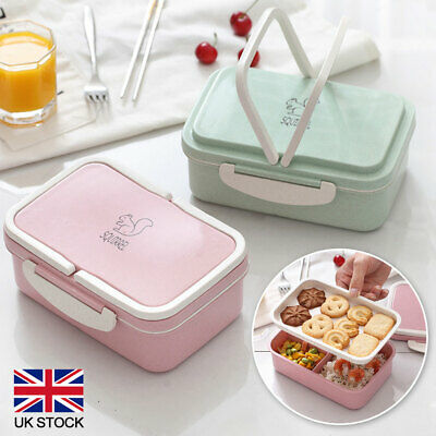 £7.70 • Buy Lunch Box Food Container Bento 3 Compartment 2 Layers Case Boxesfor School Work