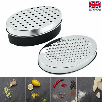 £6.87 • Buy Kitchen Cheese Grater With Container Storing Fruits Cheese Box Stainless Steel