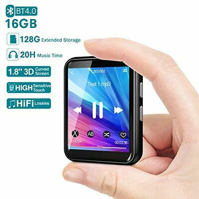Bluetooth MP3 Player 16GB With 128GB Extendable Storage, 1.8'' Full Touch Screen • 34.47£