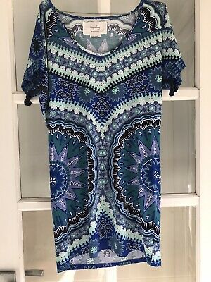 AU10 • Buy TIGERLILY- Rare Archives Blue Kaftan- Size Small- Amazing Condition!