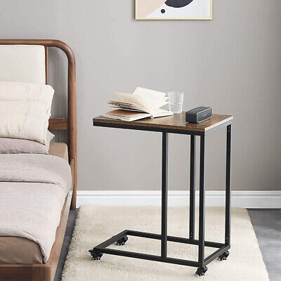 £29.99 • Buy Industrial Sofa Table End Table C-Shape Side Table Coffee Laptop Table Rustic