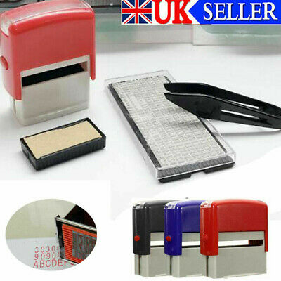 £8.29 • Buy DIY Personalised Self-Inking Rubber Stamp Kit Customized Business Name Address