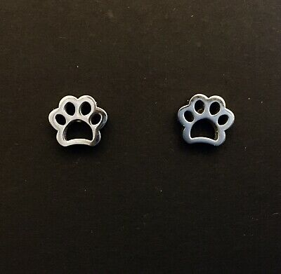 £2.99 • Buy Small Silver Coloured Stud Earrings, Cute Little Paw Print, Cat, Dog