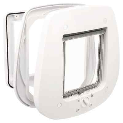 £21.05 • Buy TRIXIE 4 Way Cat Flap For Glass Doors 27x27cm White Magnetic Pet Safety Lock