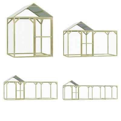 £362.99 • Buy VidaXL Chicken Cage Impregnated Pinewood Hen Poultry House Coop Multi Sizes