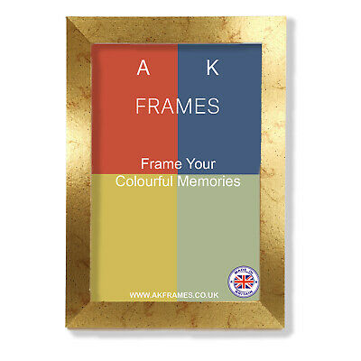 £5.75 • Buy Gold Picture Frames Modern Sleek Silver Poster Photo Frame A1 A2 A3 A4 ALL SIZES
