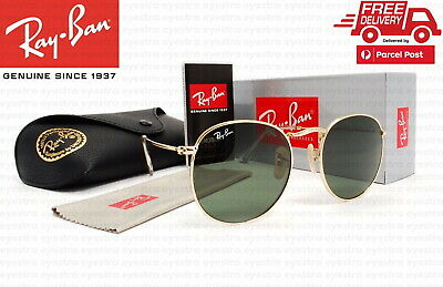 AU99.99 • Buy New Ray-Ban RB3447 001 50mm Round Metal Gold Frame Green G-15 Lens