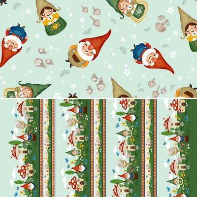 £8.49 • Buy Gnome Sweet Gnome Michael Miller 100% Cotton Fabric