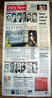 £5.77 • Buy Michael Jackson - Final Resting Place - Daily News Paper - 8-19-2009