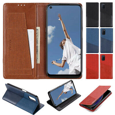 AU11.39 • Buy For Oppo Find X2 Pro Reno5 4 Pro 5G Wallet Leather Flip Magnetic Card Case Cover