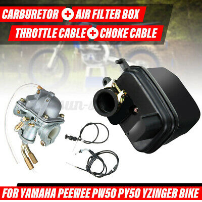 $ CDN47.43 • Buy Carburetor Air Filter Throttle Cable Choke Cable For Yamaha PW50 PeeWee PY50