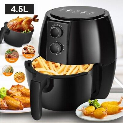 View Details Air Fryer Cooker Oven Low Fat Healthy Oil Free Frying Kitchen 4.5L Non-stick UK • 41.89£