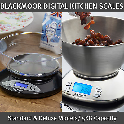 £19.99 • Buy Blackmoor Digital Kitchen Scales / Includes Bowl / 2 Colours / 5KG Capacity