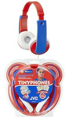£19.99 • Buy JVC Tinyphones Safe Headphones For Kids 85dB/1mW In Red&blue Age 3+ *NEW*