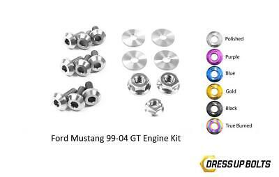 $67.49 • Buy Polished Dress Up Bolt Kit For 1999-2004 Ford Mustang GT (Engine)