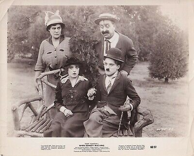 $41 • Buy Mabel Normand Charlie Chaplin Getting Acquainted R.I. 60 VINTAGE Photo