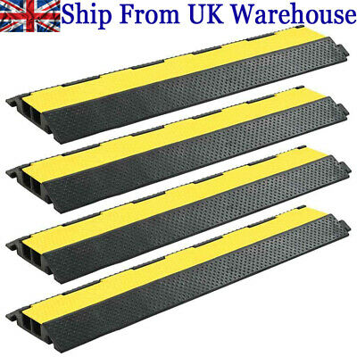 £35.25 • Buy Cable Protector Ramp 1 /2 /3 Channel Rubber Floor Wire Road Cover Conduit Safety