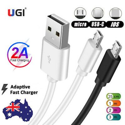 AU4.12 • Buy 1~3M 2.1A Fast Charger Data Sync USB Cable For IPhone 11 X 7 6 5 Samsung Android