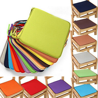 AU9.59 • Buy Hot Cushion Office Chair Garden Indoor Dining Seat Pad Tie On Square Foam PatWF