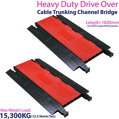 £449.99 • Buy 2x 15,300KG 5 Channel Drive Over Cable Protector-Outdoor Trunking Bridge Ducting