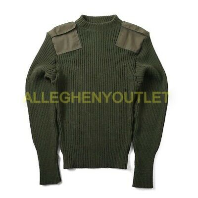 $19.90 • Buy US Military DSCP Valor Collection Wool Service Sweater OD Green Size 40 EXC