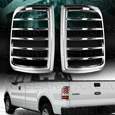 $34.95 • Buy Chrome Abs Bezel Rear Tail Lights Covers Trim 2pcs Fit 04-08 Ford F150 Sty Side