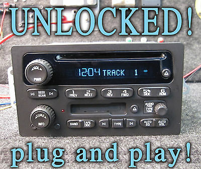 $259.99 • Buy UNLOCKED! 03 04 05 06 CHEVY GM GMC SUV TRUCK STEREO CD DISC TAPE CASSETTE Player