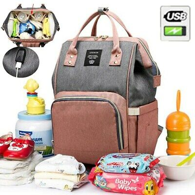 £15.88 • Buy LEQUEEN Large Mummy Maternity Baby Nappy Diaper Travel Bag Tote With USB Port