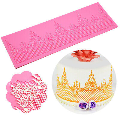 £5.12 • Buy Sugar Wedding Floral Flower Lace Cake Silicone Embossing Mat Texture Fondant