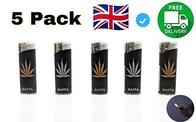 £2.70 • Buy 5 Pack Electronic Refillable Lighters Multi Pack Uk