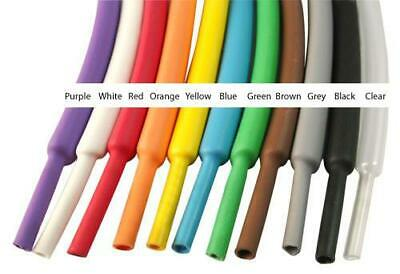 Heat Shrink Tubing 2:1 Electrical Sleeving Cable Wire Heatshrink Tube All Colour • 1.55£