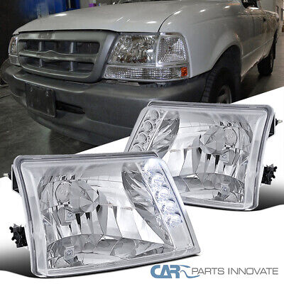 $78.95 • Buy For 98-00 Ford Ranger Pickup Clear LED Headlights Head Lights Lamps Left+Right