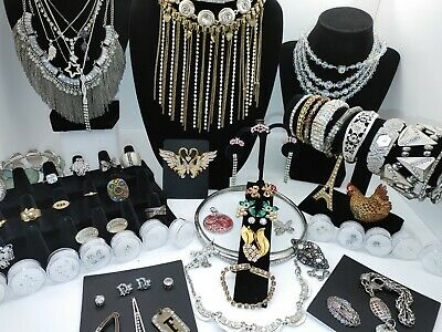 $ CDN64.02 • Buy High End Vintage Rhinestone Jewelry Lot Plus 58 CZ's Mixed Sizes And Cuts