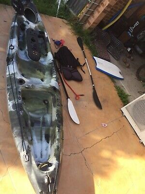 AU400 • Buy 11ft Fishing Kayak, Green/black Includes Seat, Anchor & Two Paddles
