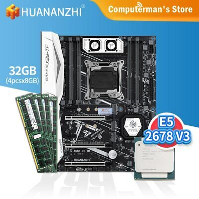 AU688.18 • Buy X99 TF Motherboard Combo Kit Set With CPU Intel XEON E5 2678 V3 Memory 4*8G DDR3