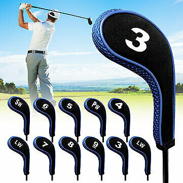 AU25.50 • Buy 12Pcs/set Golf Clubs Iron Head Covers Driver Professional Number Tag Headcovers