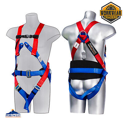 £30.95 • Buy Comfort Safety Harness 3 Point Fall Arrest Portwest Scaffold Construction Work