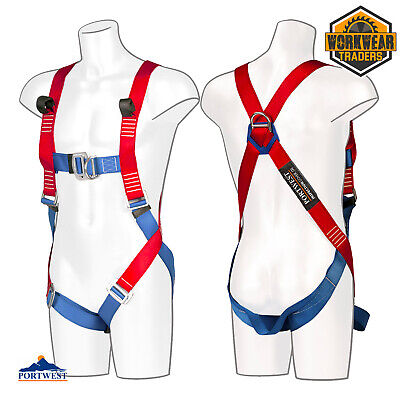 £24.74 • Buy Safety Harness 2 Point Fall Arrest Portwest Scaffold Construction Work FP13
