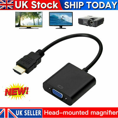 £3.30 • Buy Input HDMI To Output VGA Cable Converter Adapter 1080p Video For PC TV Monitor