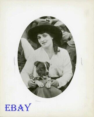 $46 • Buy Mabel Normand Sits W/dog RARE Photo