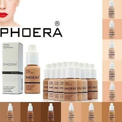 PHOERA® Foundation Concealer Full Coverage Makeup Matte Brighten Long Lasting UK • 5.50£