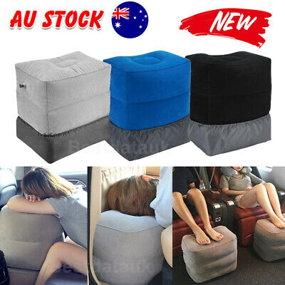 AU14.55 • Buy Inflatable Travel Footrest Pillow Plane Train Kids Bed Foot Rest Office Pad AU