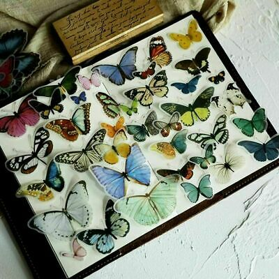 AU2.69 • Buy 40x Kawaii Butterfly Stickers Paper Book Stationery Bullet Journal Gift Diary AU