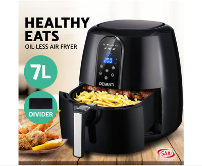 AU115 • Buy Devanti Air Fryer 7L LCD Fryers Oil Free Oven Airfryer Kitchen Healthy Cooker